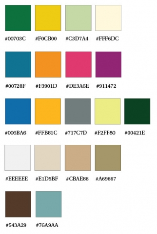 Approved Website Colors