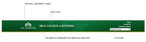 Belk College of Business Website Header