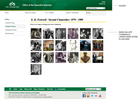 Chancellor Emeritus Website Sub-page in Theme 2A