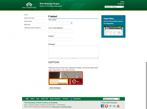 Example Website Contact Form